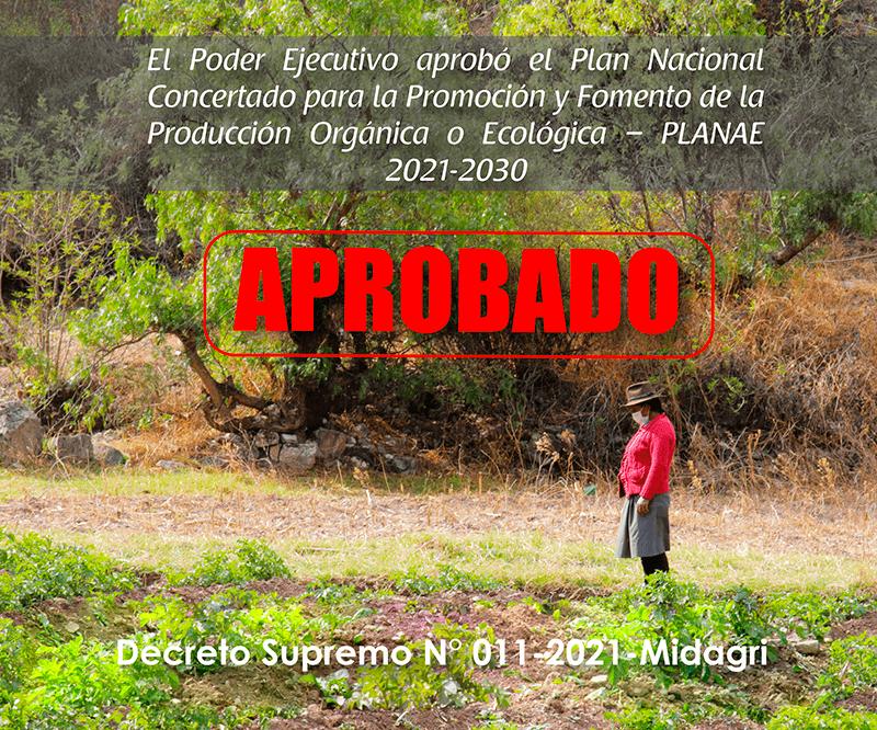 GOBIERNO APRUEBA PLAN NACIONAL CONCERTADO PARA LA PRODUCCIÓN AGROECOLÓGICA