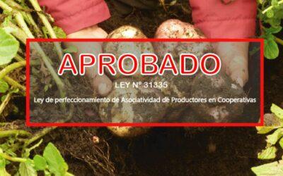 GOBIERNO PROMULGA LEY DE PERFECCIONAMIENTO DE ASOCIATIVIDAD DE PRODUCTORES EN COOPERATIVAS